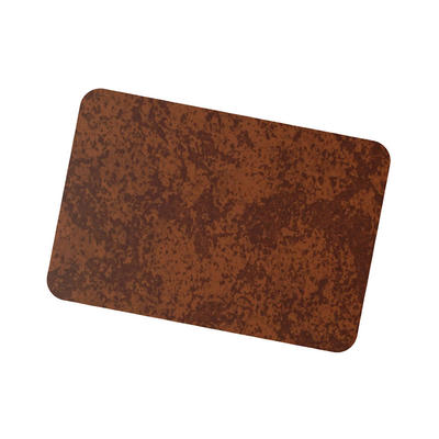 Coil Coat Solid Aluminum Medium Rusted Corten Finish