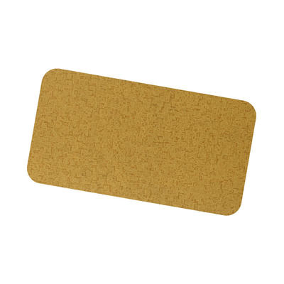Coil Coat Solid Aluminum With Yellow Fabric Finish