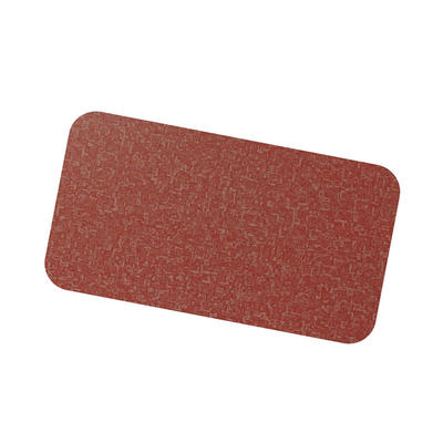 Coil Coat Solid Aluminum Red Fabric Finish